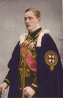 Prince Arthur of Connaught (1883--1938), 2nd child and only son of Arthur, Duke of Connaught.  Arthur had a military career and saw active duty in the 2nd Boer War.  In WWI he served as aide-de-camp to Gens. John French and Douglas Haig.  From 1920--1924 Prince Arthur was Governor-General of the Union of South Africa.  He married Princess Alexandra of Fife, granddaughter of his uncle, King Edward VII.  They had one child, Prince Alistair.