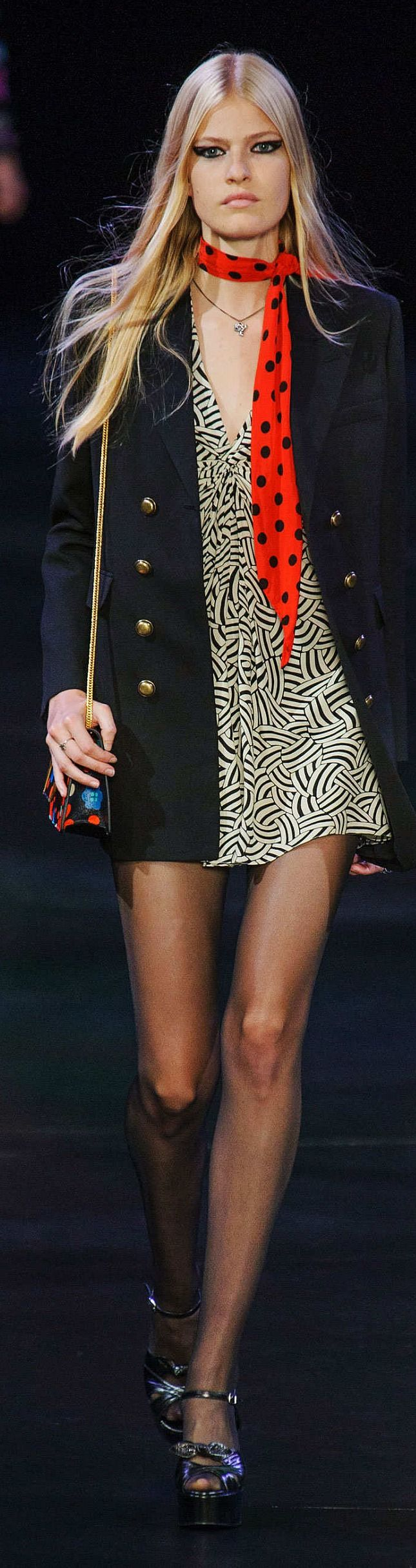 Saint Laurent Collection Spring 2015 | The House of Beccaria~