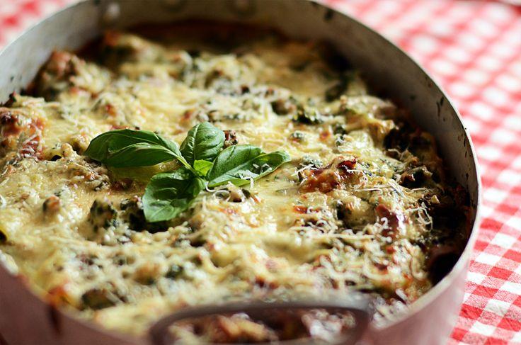 Cannelloni med kalv/flæsk, spinat og ostesauce!