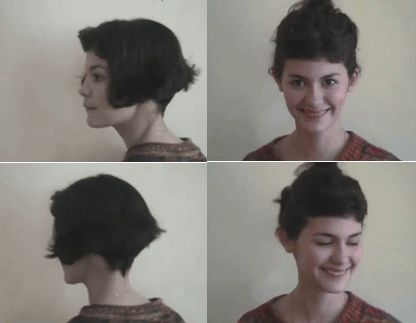 Amelie Poulain  Audrey Tautou Short bob with fringe! #WardrobeArchitect