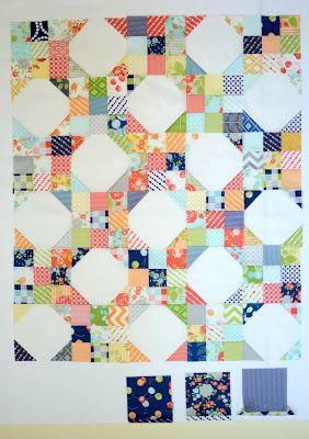 Scrappy and absolutely lovely, you are going to adore creating this cute quilt. Using 163 charm squares (or about 2 charm packs), this adorable idea would be a fantastic way to use up the leftovers from a handful of other charm pack patterns you have