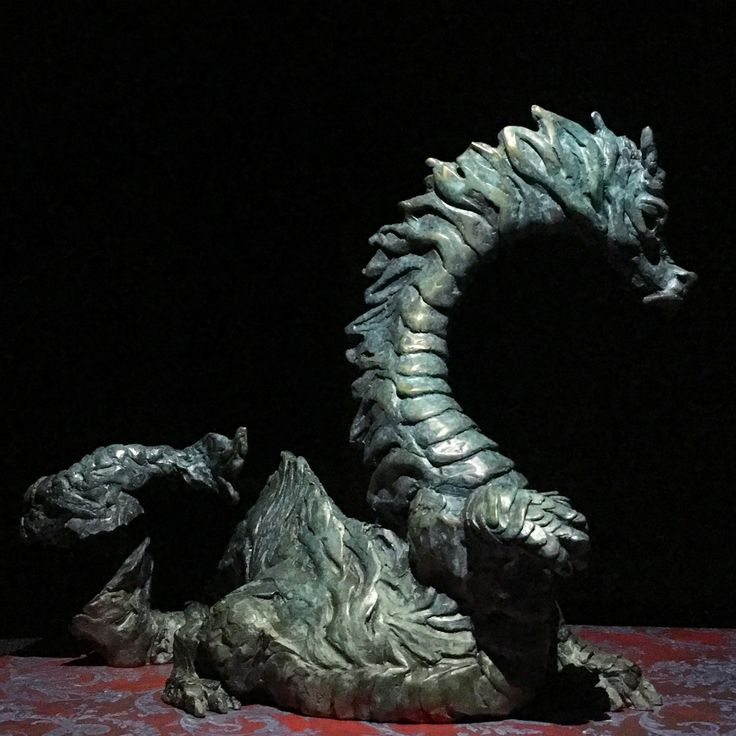 The Wizard: Dragon, hand cast bronze sculpture by Canadian Artist Kindrie Grove by KindrieGroveStudios on Etsy