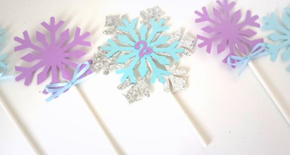 Frozen cupcake toppers- Frozen party-Frozen theme-Frozen cake toppers- Frozen inspired party decor.