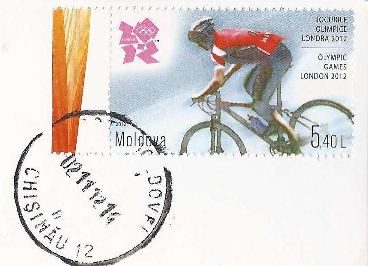 Timbre sur les Jeux Olympiques de Londres - vélo - Moldavie