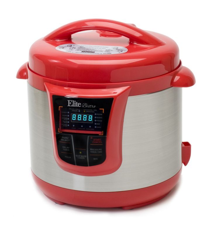 Bistro 8-Quart Electric Stainless Steel Pressure Cooker