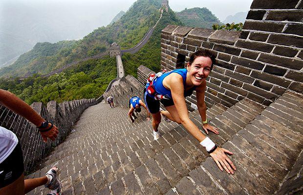 So, you won't PR here, but you'll have a once-in-a-lifetime experience at The Great Wall Marathon, tackling 5,164 steps. (Tianjin, China)