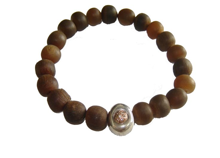 #huffyjewels #beads for #men and #women with #silver and #rose #gold detail and #brown #diamonds www.huffyjewels.com