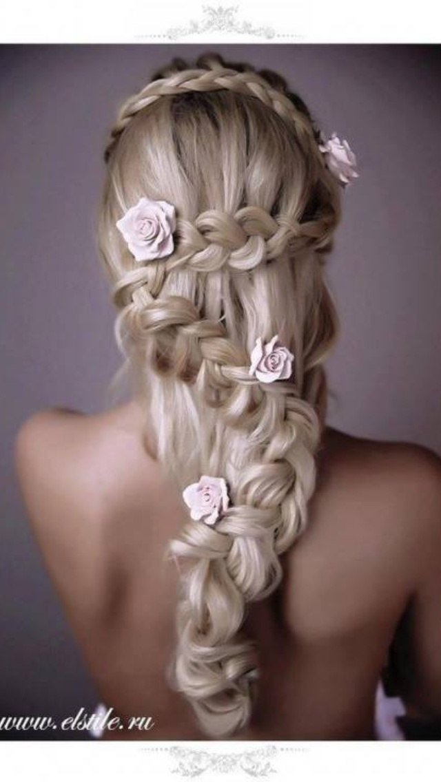 Beautifully braided long hair