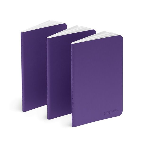 cool handy office supplies. Poppin Purple Mini Soft Cover Notebooks, Set Of 3 | Desk Accessories Cool Office Handy Supplies D
