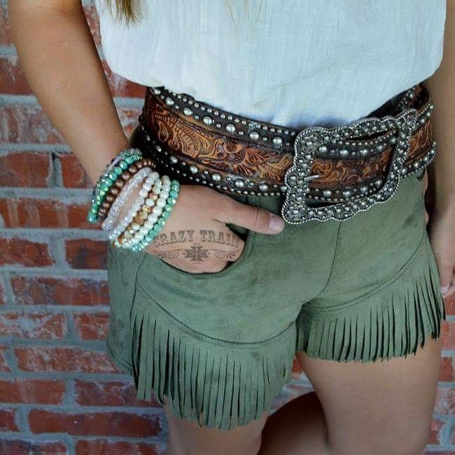 Any Fringe Of Mine Shorts Order at www.danddwesternwear.com
