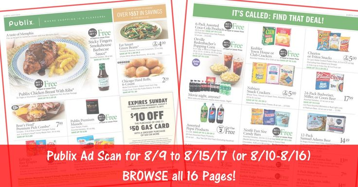 Anybody want to BROWSE the actual upcoming Publix Ad Scan? Here is the PUBLIX AD SCAN FOR 8/9 to 8/15 (or 8/10-8/16 for some) ~ ALL 16 PAGES Click the Picture below to BROWSE the Publix Ad Scan ► http://www.thecouponingcouple.com/publix-ad-scan-for-8-9-to-8-15-17/  Visit us at http://www.thecouponingcouple.com for more great posts!