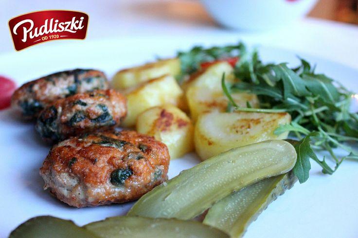 Kotleciki mielone ze szpinakiem. #szpinak #obiad #pudliszki #przepis