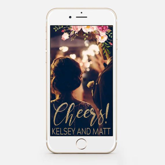 LIMITED TIME Custom Snapchat Sparkle Gold Wedding Geofilter