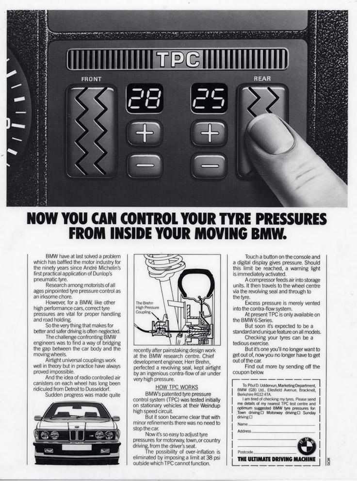 BMW Tyre Pressure Advert