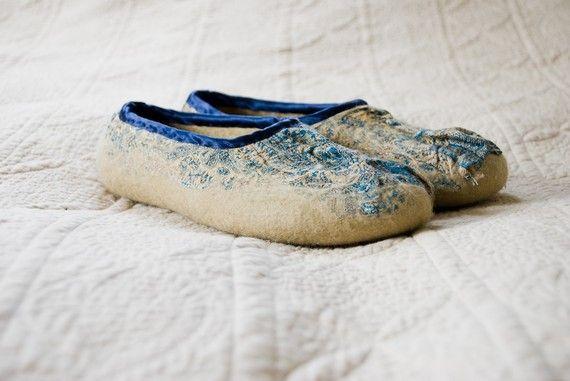 The most lovely handmade felt slippers.