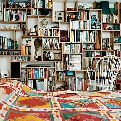 Book wall.: Bookshelves, Idea, Living Rooms, Home Libraries, Wall Of Shelves, Books Shelves, Small Spaces Storage, House, Bookca