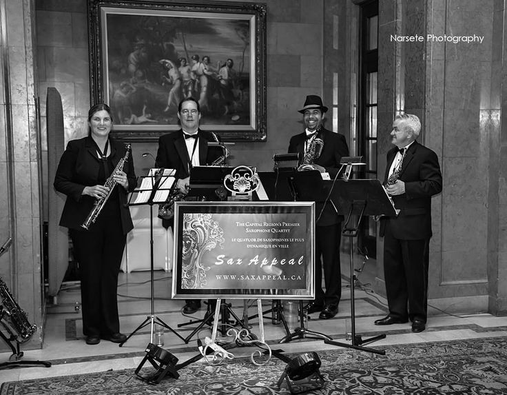 Sax Appeal Ottawa performing for a lovely wedding at the Fairmont Château Laurier (June 2013). Photo by Narsete Photography.