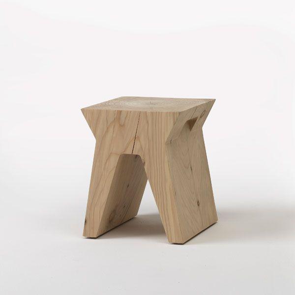 SID solid cedar wood stool | david dolcini STUDIO | Riva1920 #stool #solidwood #wooddesign #riva1920 #daviddolcini #daviddolcinistudio