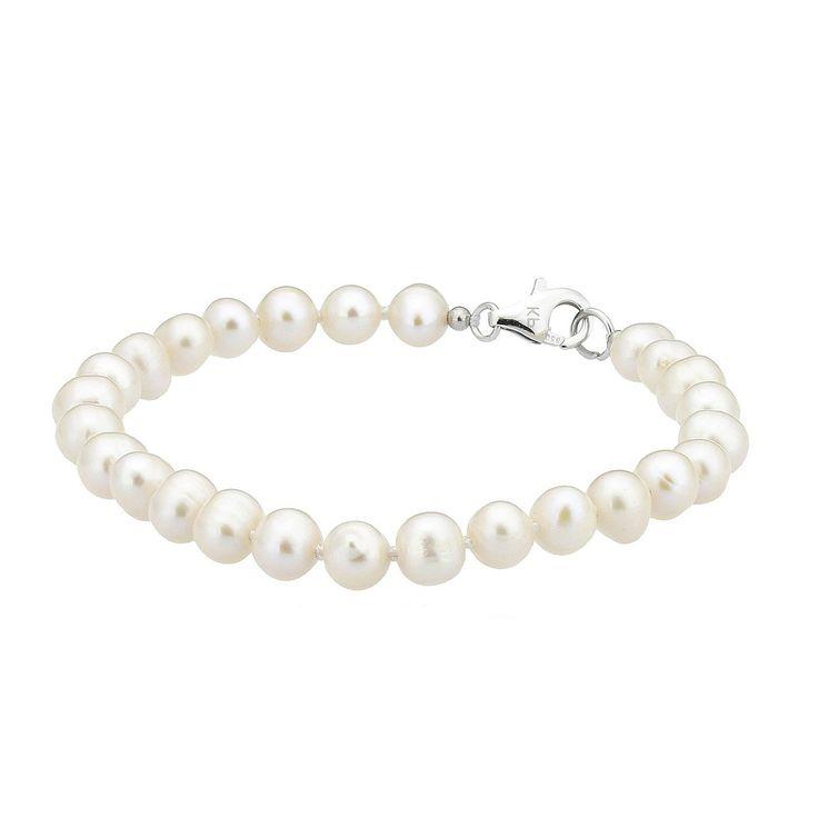 Brățară ZEEme argint cu perle de cultură albe