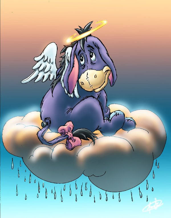Angel Eeyore...my BFF and I have this same tattoo...love it!