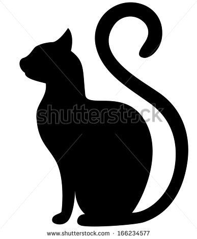 Black cat silhouette on a white background by eva_mask, via Shutterstock