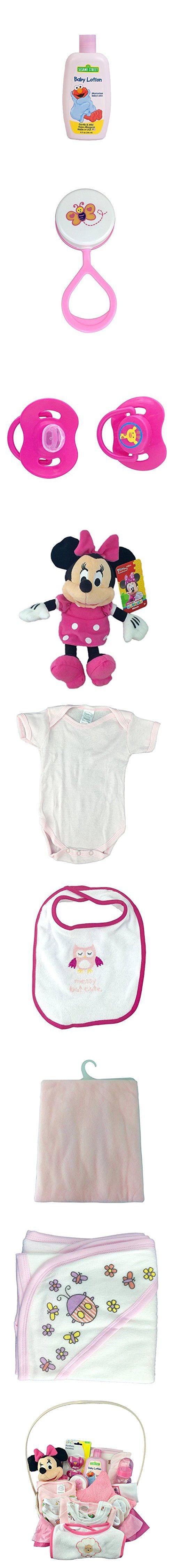 NEWBORN BABY GIRL GIFT BASKET- MEDIUM PINK