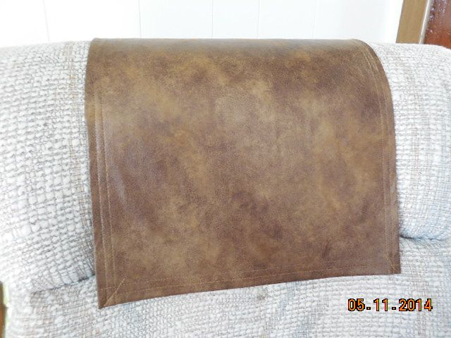 Chair Covers Recliner Pads Headrest Pads Furniture Protectors Std Two Tone  Brown Leather Look Furniture Covers Recliner Covers Sofas Loveseats Chaises