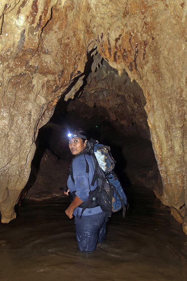 Cave exploring in Tögi Banua Cave, Alasa sub-district, North Nias Regency, Nias Island, Indonesia. Photo by Bjorn Svensson. www.northniastourism.com