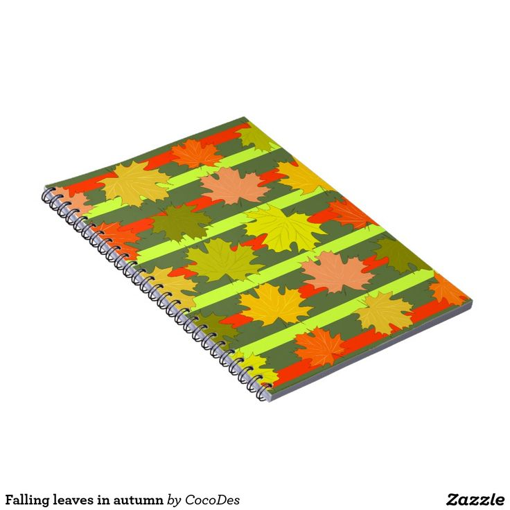 Falling leaves in #autumn #notebook #organize