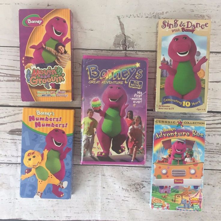 Lot 5 Barney Friends Purple Dinosaur VHS Tapes Movies Sing Numbers Adventure Bus