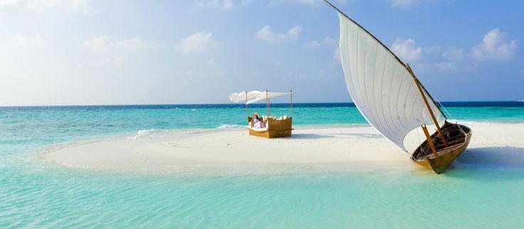 Sandbank ved Baros, Maldiverne
