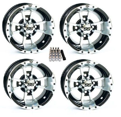 ITP 10' SS112 Black Golf Cart Wheels/Rims [10SS44] EZ-GO & Club Car
