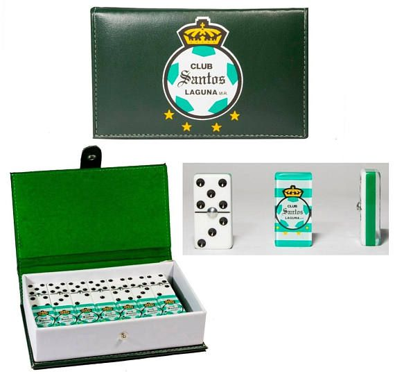 Club Santos de Torreon Dominoes Game Set Double Six Domino