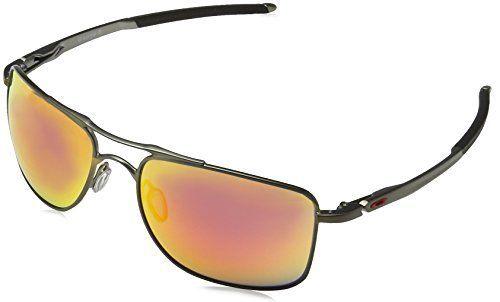 Oakley Sonnenbrille GAUGE 8 (OO4124): Indice de protection: Index 3 Couleur: Matte Carbon Ruby Iridium Lunettes de soleil
