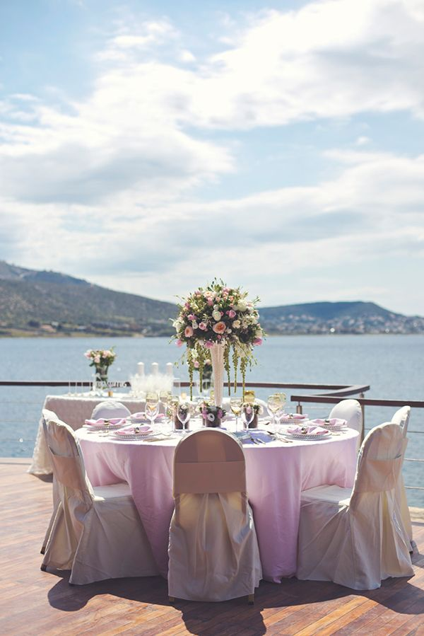 Endless blue and charming blush pink wedding styling by www.StyleConcept.gr  ροζ-διακοσμηση-δεξιωσης-γαμου