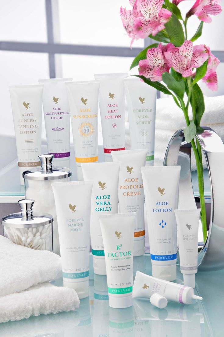Aloe Vera is the first ingredient in all of these products. For brighter, plumper, younger looking skin. Check out my page to order https://www.facebook.com/foreverrocksforever