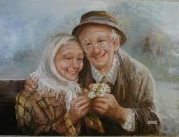 Resultado de imagen para viejitos enamorados caricatura