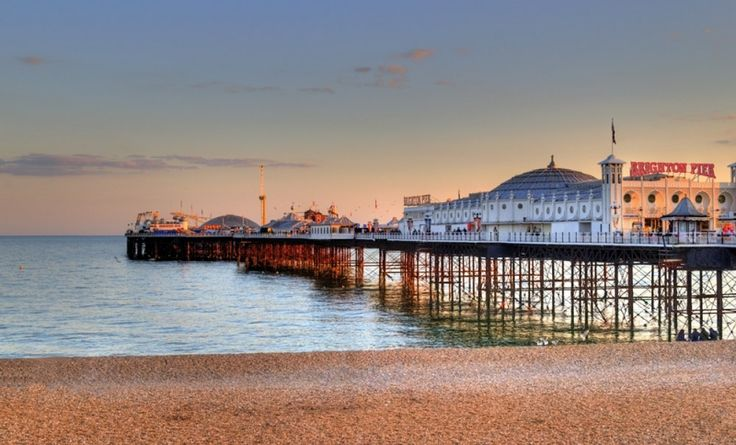 Eastbourne en het eiland Wight.