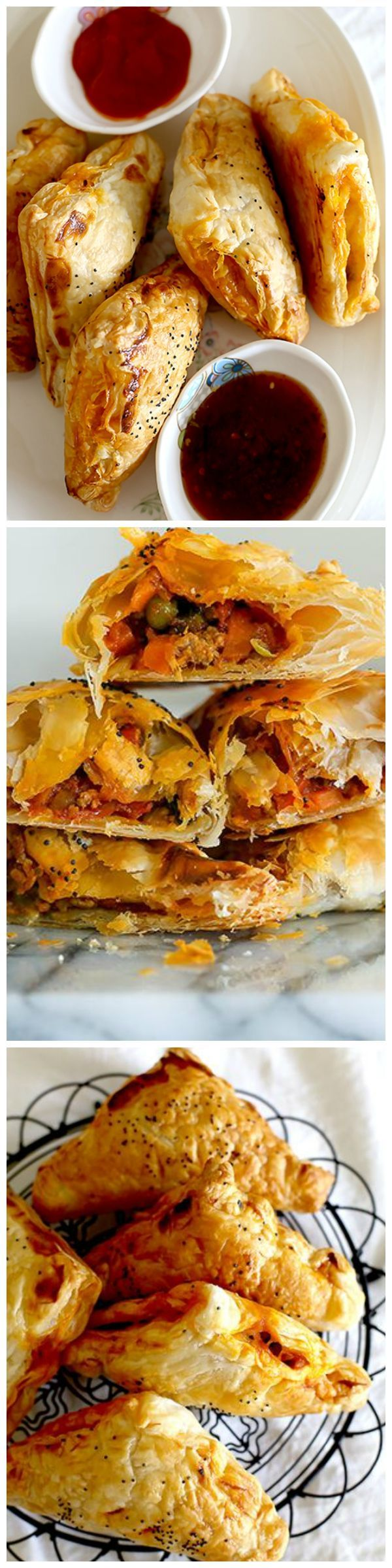 Easy and crispy, spicy turkey curry puffs!  These delicious puffs hit the spot!