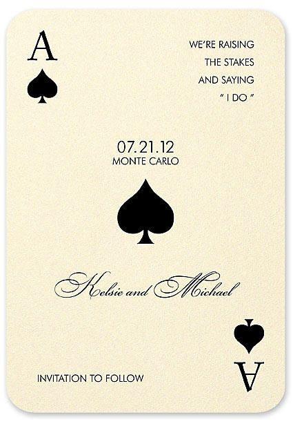 Another Cute Wedding Invitation Idea Since We Are Getting Remarried In  Vegas!