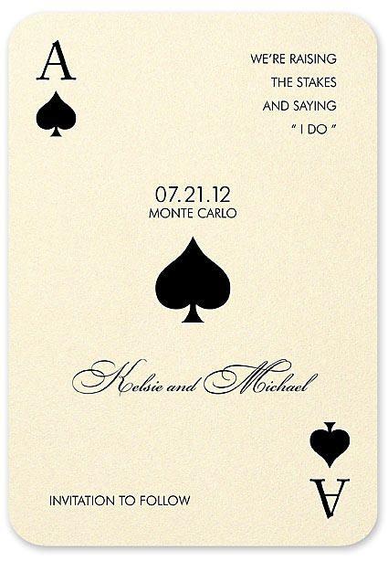 Best 25 Vegas wedding invitations ideas on Pinterest