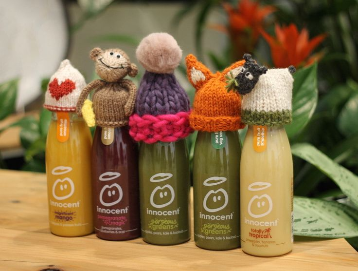 Etsy.com's free knitting patterns for Innocent Smoothie Age UK hats