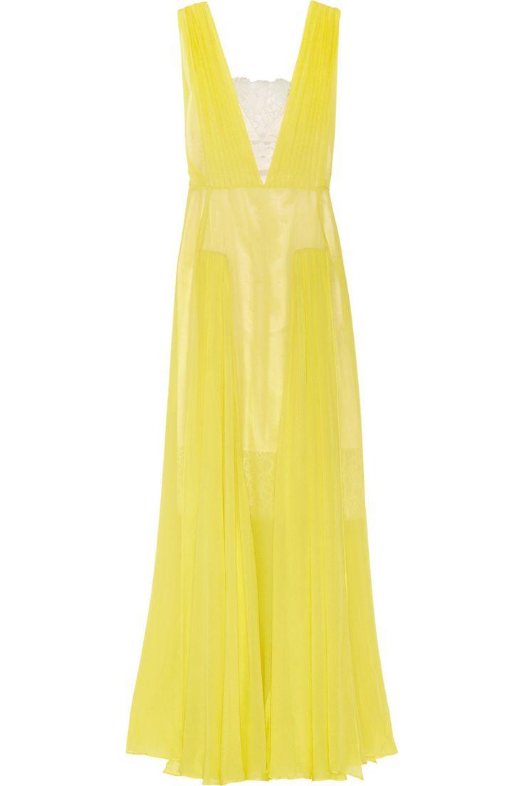 By Malene Birger Nadra plunge-front silk-chiffon gown