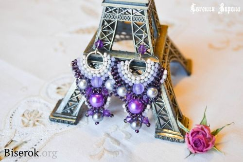 purple earrings pattern