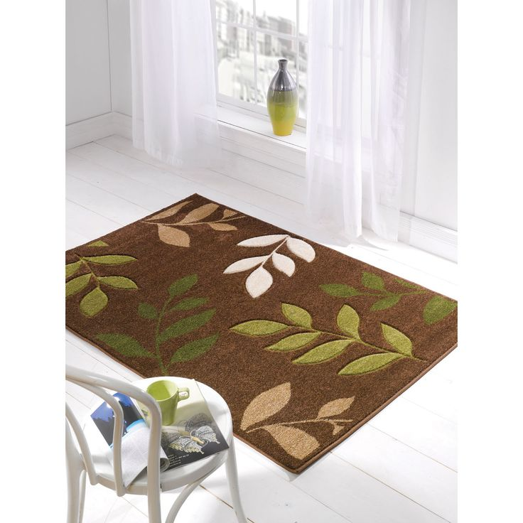 The Orleans Manor Modern Rug Brown Green At A Great Price And Get Free Fast Delivery