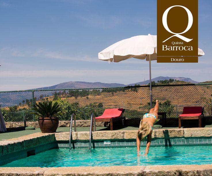 O sol brilha e já apetece um mergulho!   www.quintadabarroca.com.pt  #QuintadaBarroca #Douro #Agroturismo #TurismoRural #Sol #Escapadinha