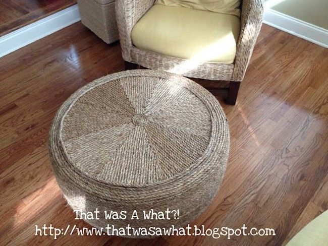 How To Make A Twine Tire Coffee Table | 21 Super Amazing Ways To Reuse Old Tires