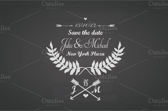 Wedding chalkboard template by SmartDesign on @creativemarket