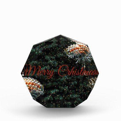 Merry Christmas Acrylic Award - Xmas ChristmasEve Christmas Eve Christmas merry xmas family kids gifts holidays Santa