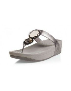 Womens Fitflop Luna Slippers Pewter